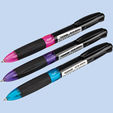 Automatic ball pen 3-color ink 0,7mm