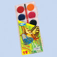 Water colors 12col.x20mm ZOO semi moisture