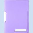 Clip file 'Pastel' A4 0.40mm with swing clip assorted