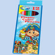 Color pencils plastic 12col. 'Pirate' long size /paper box