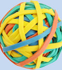 Rubber bands 60gr. size 40mm (80% latex) assorted
