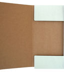 Envelope cardboard with string green