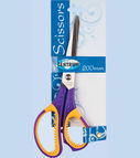 Scissors 20сm with soft rubber (assorted handles)