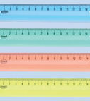 Ruler plastic 15cm clear assorted