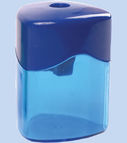Sharpener plastic with container (metal insert)