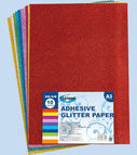 Adhesive glitter paper 10col. A3 (thickness 2.00mm)
