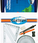 Drawing set with compass (compass, leads, protractor ruler, rulers)