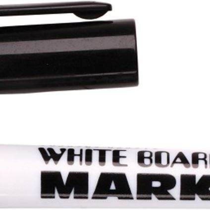 Whiteboard marker black liquid ink, bullet tip